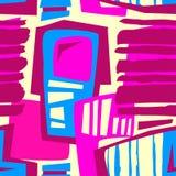 Seamless brushpen textile doodle pattern grunge texture Stock Photography