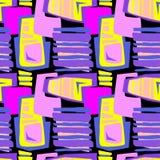 Seamless brushpen textile doodle pattern grunge texture Stock Photos