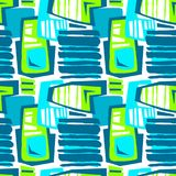 Seamless brushpen textile doodle pattern grunge texture Royalty Free Stock Photos