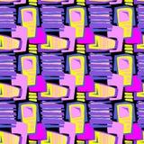 Seamless brushpen textile doodle pattern grunge texture Stock Image
