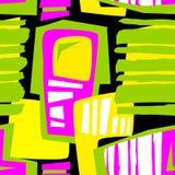 Seamless brushpen textile doodle pattern grunge texture Royalty Free Stock Image