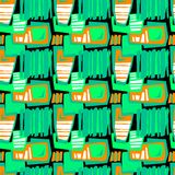 Seamless brushpen textile doodle pattern grunge texture Royalty Free Stock Images