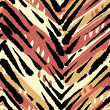 Seamless brushpen textile doodle pattern grunge texture Royalty Free Stock Photo