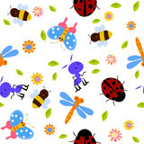 Seamless bug pattern Royalty Free Stock Photos