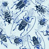 Seamless bug pattern Stock Images