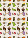 Seamless bug pattern. Cartoon vector illustration Royalty Free Stock Photography