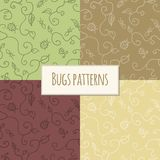 Seamless bugs pattern Royalty Free Stock Photo