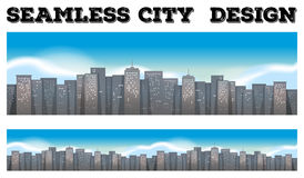 Seamless buildings in the city Stock Image
