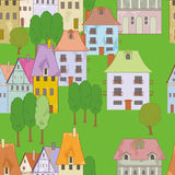 Seamless with buildings Royalty Free Stock Image