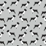 Seamless Bulldog pattern Royalty Free Stock Photos