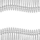 Seamless bullet border sketch Stock Photography