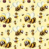 Seamless bumble bee pattern. Illustration vector illustration