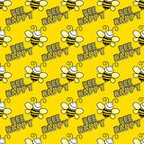 Seamless Bumblebee Background Royalty Free Stock Images