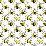 Seamless Bumblebee Background Stock Photos