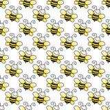 Seamless Bumblebee Background Stock Photos