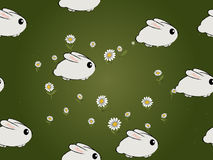 Seamless bunnies pattern Royalty Free Stock Photo