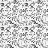 Seamless bunnies pattern Stock Photo