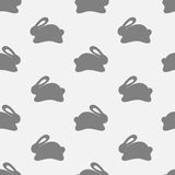 Seamless bunny pattern on white background Royalty Free Stock Image