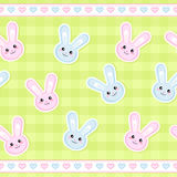 Seamless bunny strip. Seamless strip pattern with cute bunnies Royalty Free Stock Image