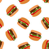 Seamless burgers background pattern Stock Image
