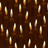 Seamless burning candle, church background Stock Photos