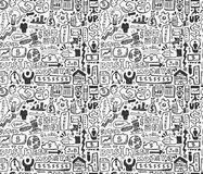 Seamless business pattern Stock Images