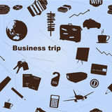 Seamless business trip pattern Royalty Free Stock Images