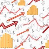 Seamless business wallpaper Stock Photo
