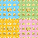 Seamless Buttercup Pattern. In four colors Royalty Free Stock Image