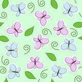 Seamless butterflies. Seamless pattern with blue and purple butterflies Royalty Free Stock Image