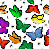 Seamless with butterflies Stock Photo
