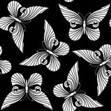 Seamless with butterflies Stock Images