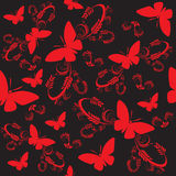 Seamless butterflies Royalty Free Stock Images