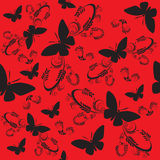 Seamless butterflies Royalty Free Stock Image