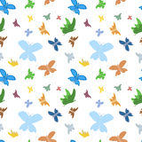 Seamless butterflies background Stock Image