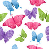 Seamless butterflies background Royalty Free Stock Images
