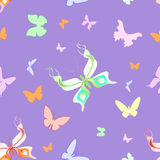 Seamless butterflies Stock Photos