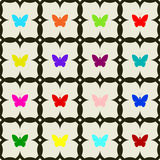 Seamless of butterflies. Royalty Free Stock Images