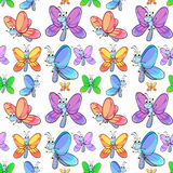 Seamless butterflies Stock Photo