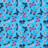 Seamless butterflies pattern Stock Photo