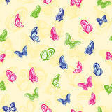 Seamless butterflies pattern Stock Photos