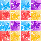 Seamless butterflies squares pattern Royalty Free Stock Image