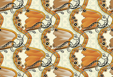 Seamless butterfly background - Pearly Heath Royalty Free Stock Photo