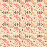 Seamless butterfly and flower pattern Royalty Free Stock Photos