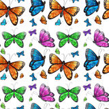Seamless butterfly Royalty Free Stock Photos