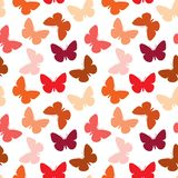 Seamless butterfly pattern Stock Photos
