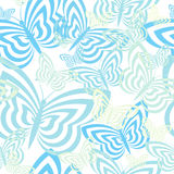 Seamless Butterfly Pattern Stock Photos