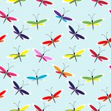 Seamless butterfly pattern Stock Photography