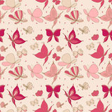 Seamless butterfly pattern. Seamless pattern of Butterflies in pink Royalty Free Stock Photography