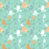 Seamless Butterfly pattern. In Blue Royalty Free Stock Photos